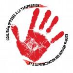 Coalition opposée à la tarification et à la privatisation des services publiques