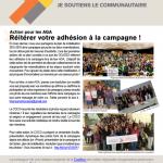 bulletin de la campagne Je soutiens le communautaire - mai 2015