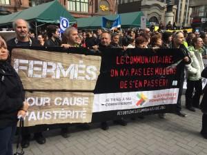 Le communautaire était à la manifestation de la Coalition Main Rouge
