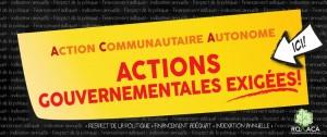 action gouvernementale exigée